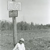 Ferde Greene Photo<br /> 8/6/1924 4PM, Aunt Ruth at International Boundary, Blackfoot National Forest changed to Flathead, Polebridge, Montana<br /> f16 1/25<br /> 2389