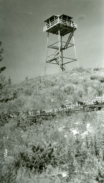 Ferde Greene Photo, 7/14/1941, Cyclone Lookout, Polebridge, Montana