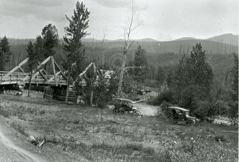 Ferde Greene Photo<br /> 8/14/19238 3 PM, Canadian Line, Past Moose City, Columbia Falls, Montana<br /> f11 1/25<br /> 6373