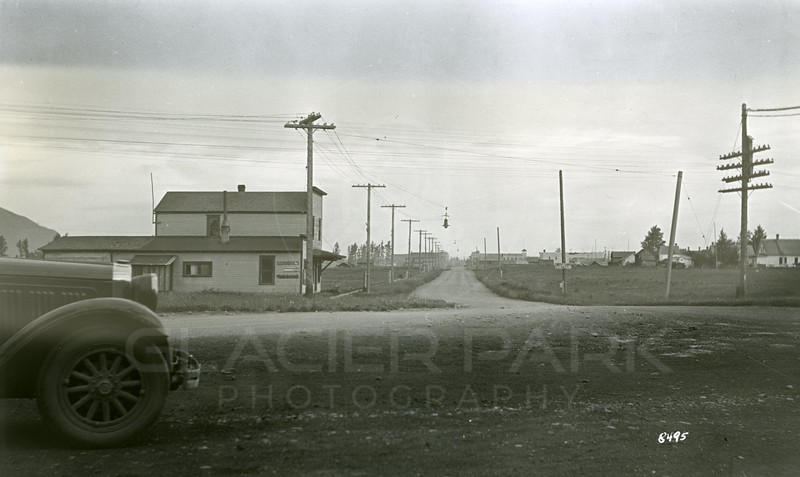 Ferde Greene Photo<br /> 6/21/1935 In front of train depot looking South on Nucleus Ave<br /> 8495