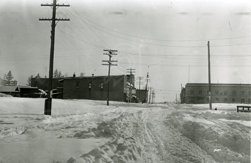 Ferde Greene Photo<br /> 1/30/1929 Main Street Columbia Falls, Montana<br /> 3450