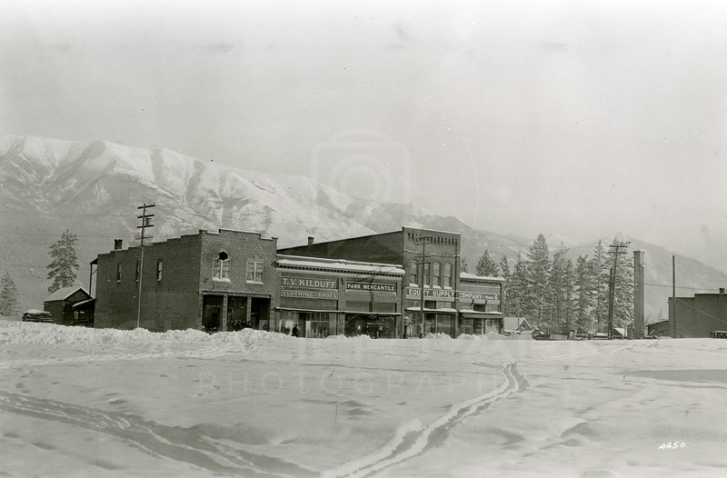 Ferde Greene Photo<br /> 1/30/1929 Left of TV Kilduff was pool hall<br /> 4450