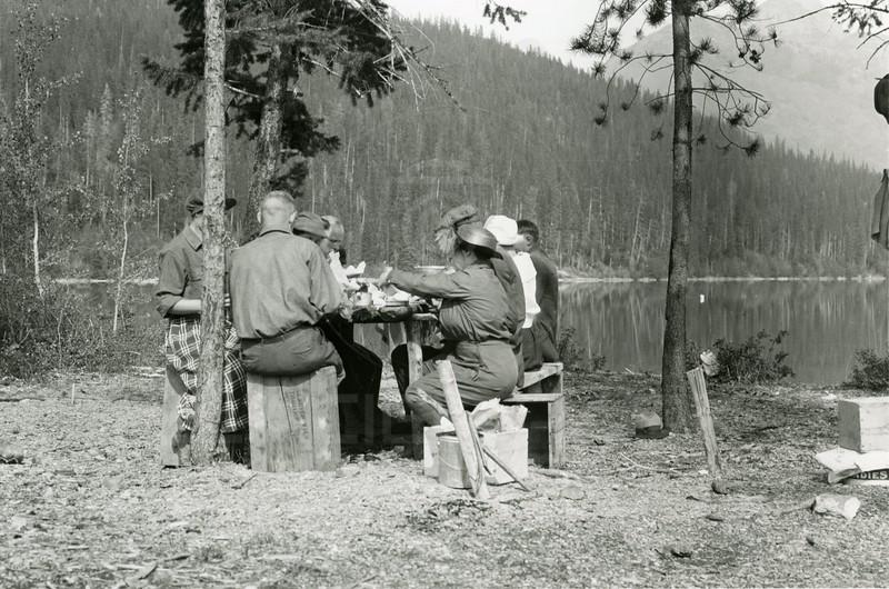Ferde Greene Photo<br /> 9/24/1922, Dinner at Lake Bowman, Montana<br /> 2364