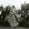 Ferde Greene Photo<br /> 8/17/1918 , Miss Glen Kersey & Ferde & Elizabeth Greene, Columbia Falls, Montana<br /> 4292