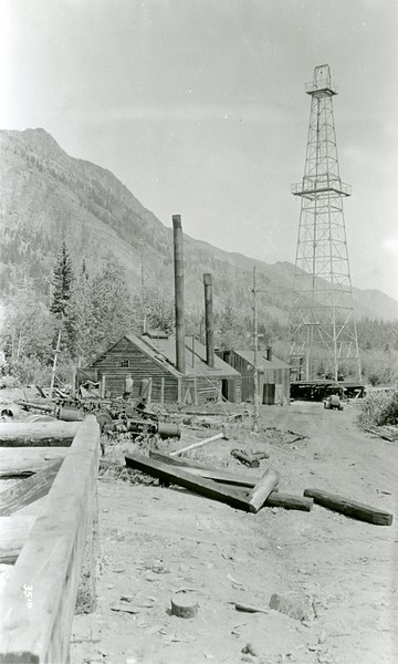 Ferde Greene Photo, 7/23/1936, Crows Nest Oil Company in Canada just over the boarder