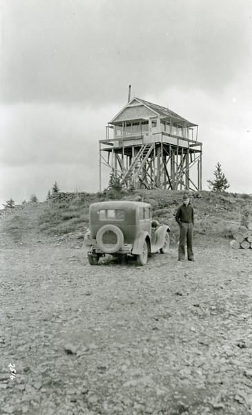 Ferde Greene Photo, 10/4/1936, Dessert Mountain Lookout, Howard Greene