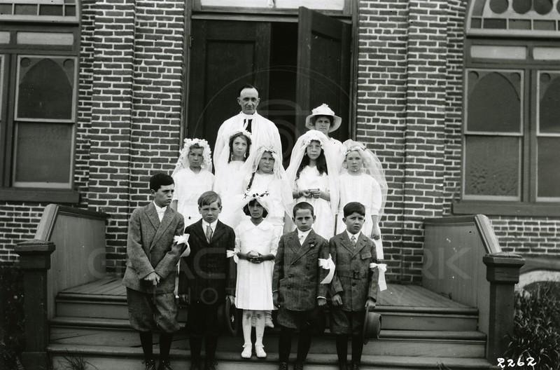 Ferde Greene Photo<br /> 6/16/1918 First Communion<br /> 2262
