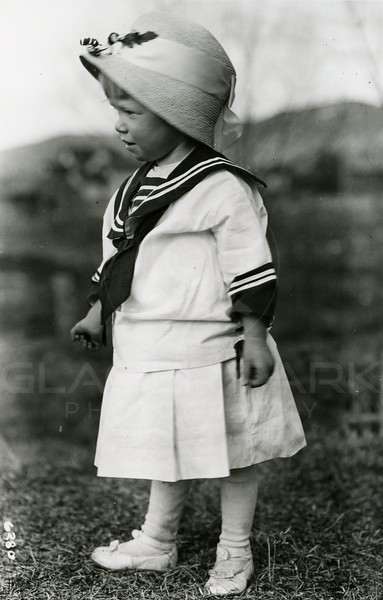 Ferde Greene Photo<br /> 4/7/1919 5PM, Ruby new hat and dress, Columbia Falls, Montana<br /> 6280