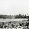 Ferde Greene Photo<br /> 8/17/1919, Old Red Bridge, Right side Talbot Estate, Columbia Falls, Montana<br /> 5292