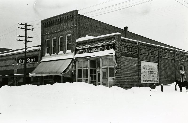 Ferde Greene Photo<br /> 3/2/1919 430PM, Cash store TV Gilduff then grocery, Columbia Falls, Montana<br /> f11 1/25<br /> 1279