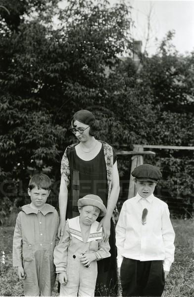 Ferde Greene Photo<br /> 8/2/1925 Left Howard,Alan, Malvin Aunt Ruth (Ferde's sister)<br /> 4409