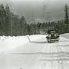 Ferde Greene Photo, 2/14/1937, Road near Whitestones 1930 Dodge East end of Hungry Horse