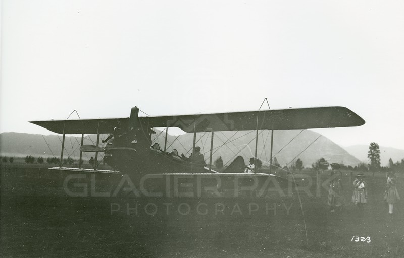 Ferde Greene Photo<br /> 7/15/1920, Landed in a field behind Nigh Owl Bar, Columbia Falls, Montana<br /> 1323