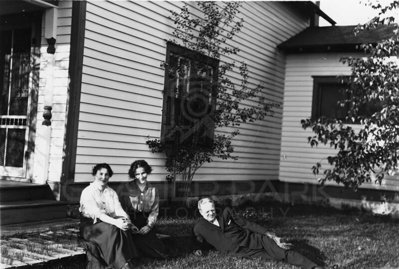 Ferde Greene Photo<br /> 5/28/1916 Home Gradis Talbot with Elizabeth Greene on left Columbia Falls, Montana<br /> 4227