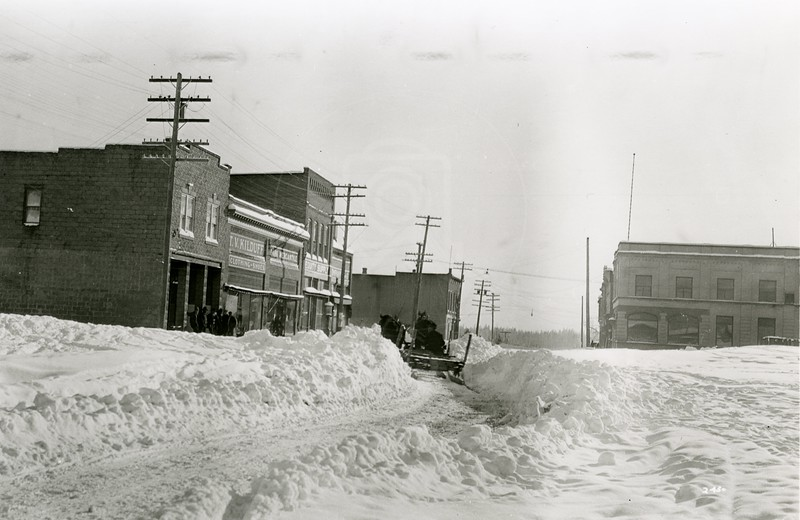 Ferde Greene Photo<br /> 1/30/1929 230PM Main Street, Columbia Falls, Montana<br /> f16 1/25<br /> 2450