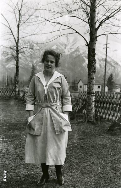 Ferde Greene Photo<br /> 4/6/1921, Annie Gregory, Columbia Falls, Montana<br /> f16 1/25<br /> 3333