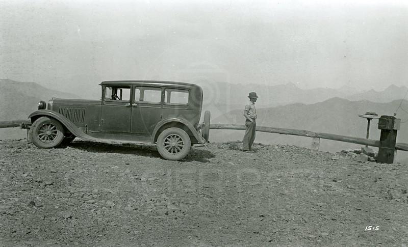 Ferde Greene Photo, 8/29/1936, Allen on top of Belton Point, Dessert Mountain, Allen Died 11/30/2007