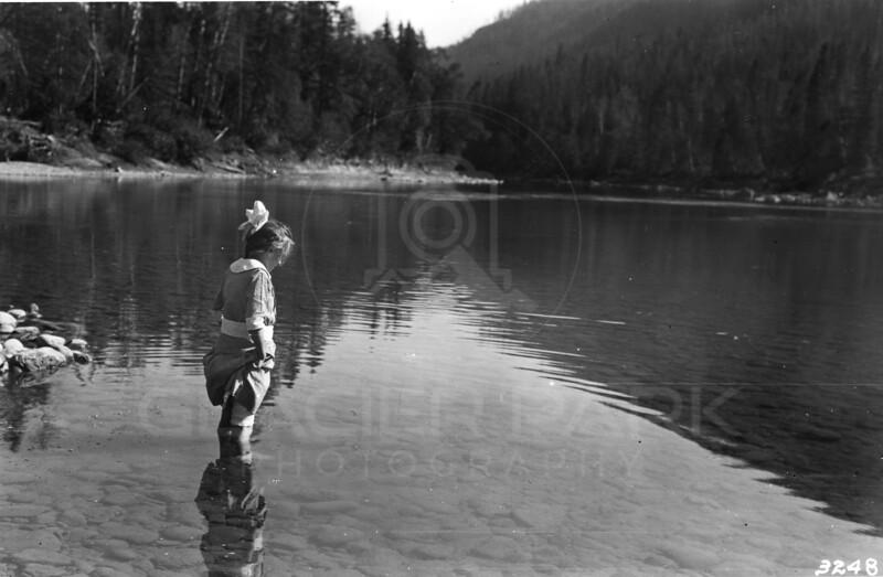 Ferde Greene Photo<br /> 1917 Flathead River, Columbia Falls, Montana<br /> 3248