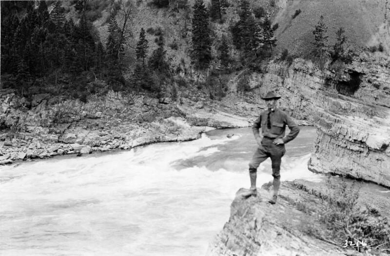 Ferde Greene Photo<br /> 9/2/1914 Kootenai Falls, Montana<br /> 3216