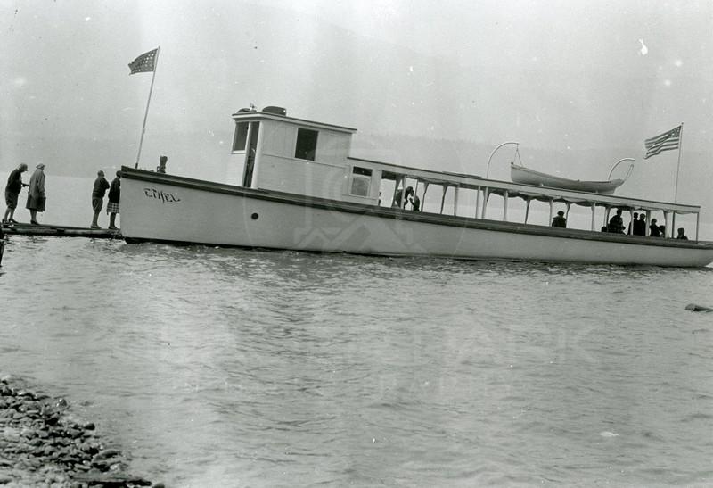 Ferde Greene Photo<br /> 7/14/1926 Ethel on Lake McDonald<br /> 1425
