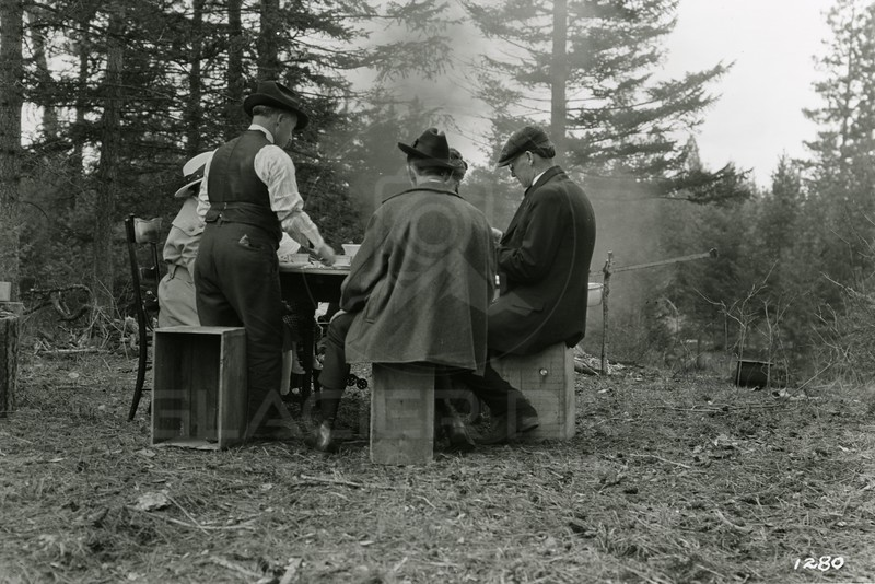 Ferde Greene Photo<br /> 4/7/1919, Picnic at Shorty's Orvis, Left Shorty Orvis, M John Oge, Ferde Greene on Right, Columbia Falls, Montana<br /> 1280