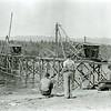 Ferde Greene Photo, 9/21/1935, Driving pilings for Columbia Falls Steel Bridge