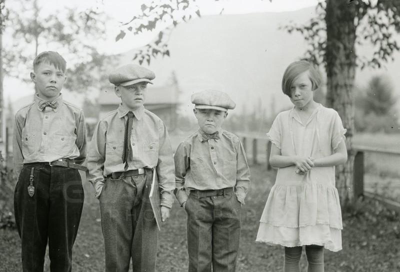 Ferde Greene Photo<br /> 1927 Melvin, Howard, Alan & Ruby Greene<br /> 5436