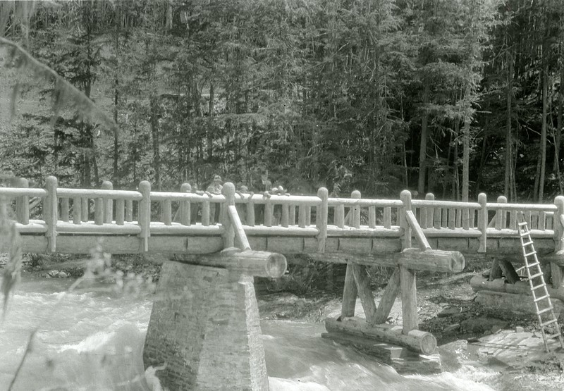 Ferde Greene Photo<br /> 1927 Glacier National Park, McDonald Creek<br /> 1434
