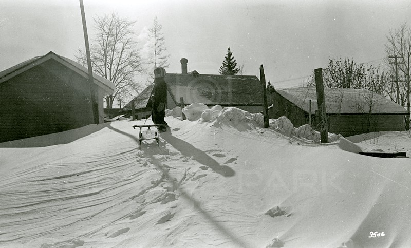 Ferde Greene Photo, 2/13/1936, Ruth Ann after blizzard
