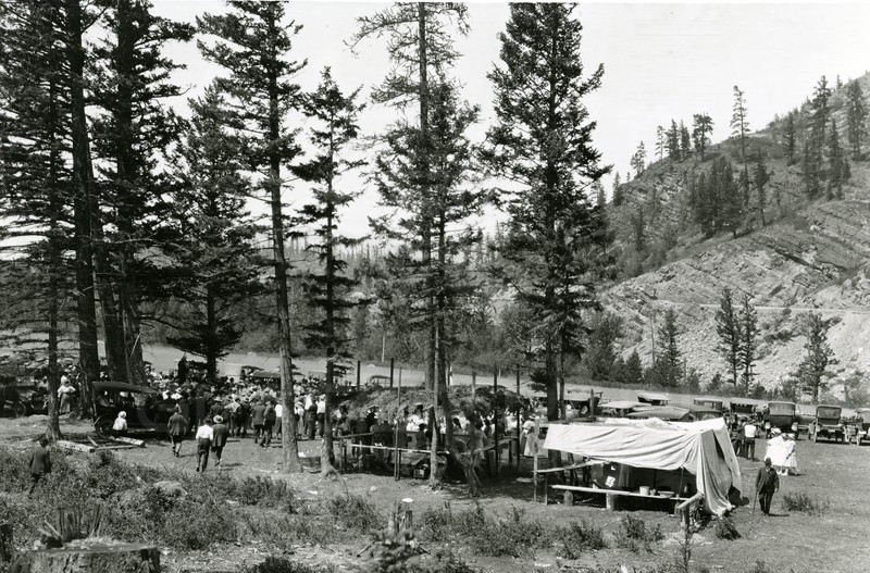 Ferde Greene Photo<br /> 8/4/1918, Old Sitlers Picnic, Bill Burns place in the Canyon, Columbia Falls, Montana<br /> 6266