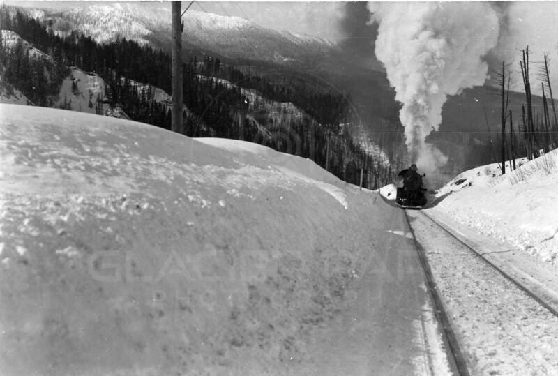 Ferde Greene Photo<br /> 2/12/1915 1PM Montana Steam Train<br /> 1/50 f11<br /> 3220