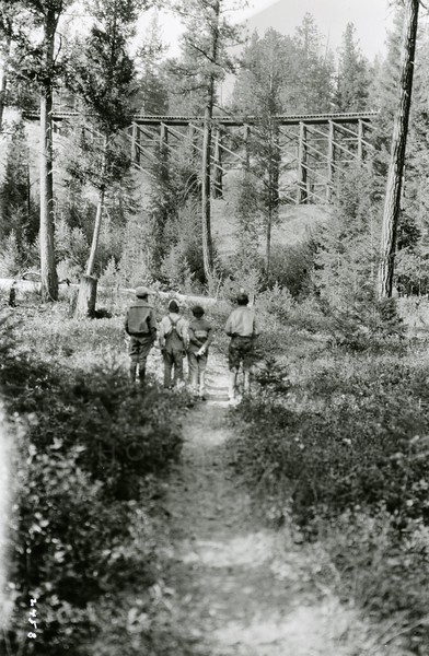 Ferde Greene Photo<br /> 6/26/1929 Great Northern Tressel, Marion Line<br /> 2458