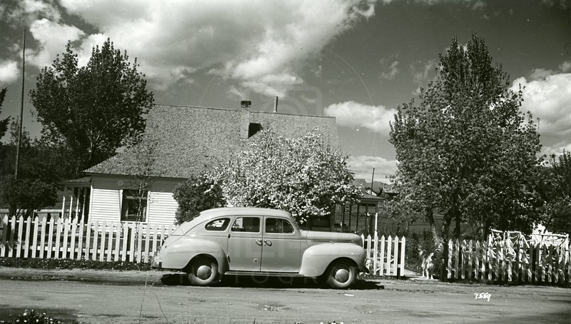 Ferde Greene Photo, 5/17/1940, Home, 4th Ave W, 3rd Street, 1940 Dodge, Ferde bought house in 1936 for $1700