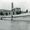Cotter Tugboat first built in Somers by John O'Brien 1901<br /> Somers Lumber Company, Flathead Lake, Montana<br /> Named after John O'Brian's son later named the Kootenai<br /> Note- The upper structure is not completed