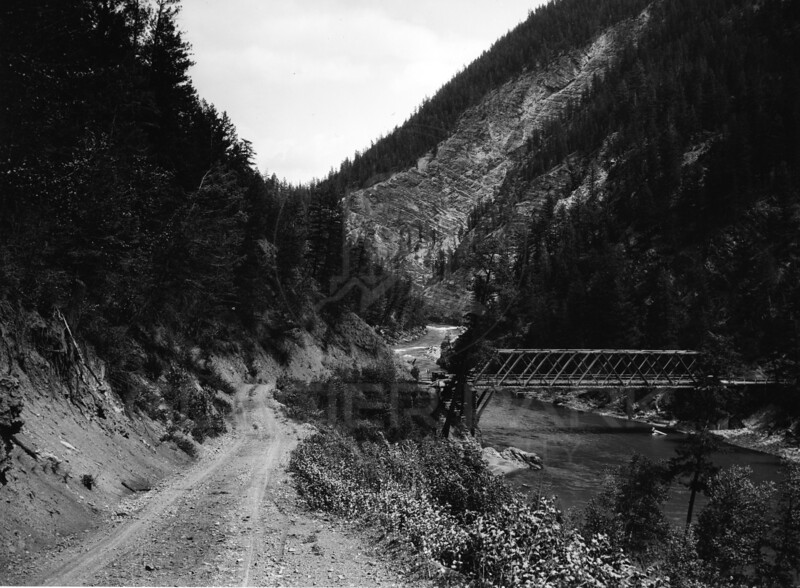 Bridge Across the Middle Fork. - 1920's<br /> Re Marble Photo<br /> MA-0125