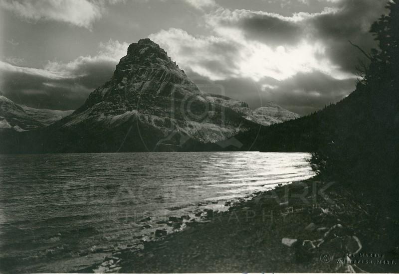 Sinopah Mountain, Two Medicine Lake by Moonlight