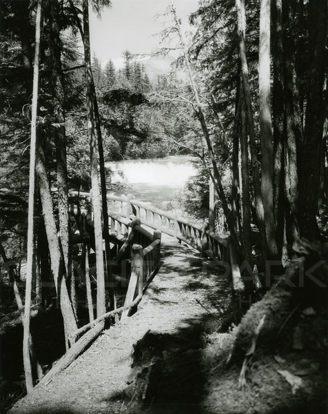 McDonald Creek Horse Bridge 1930<br /> R E Marble Photo<br /> MA-033