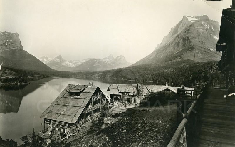 St. Mary Lake, Glacier National Park Historic Photo