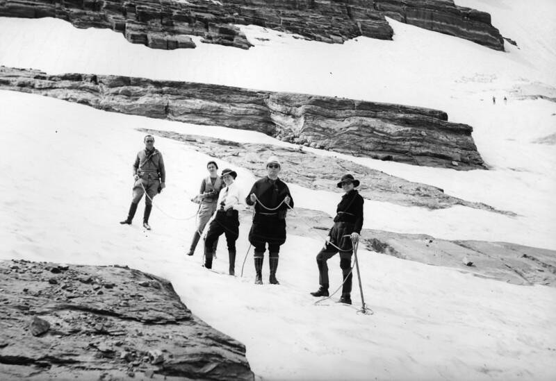 Well Dressed Climbers 1920's<br /> RE Marble Photo<br /> Ma-039