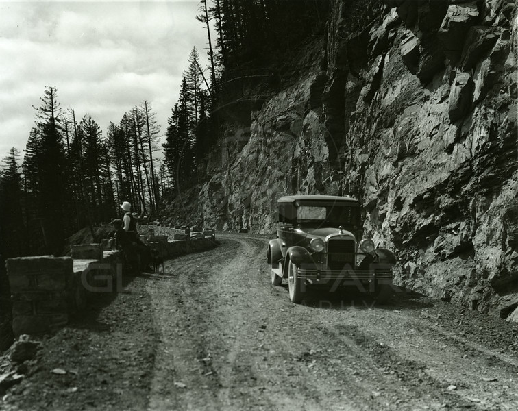 Going to the Sun Highway 1930<br /> RE Marble Photo<br /> MA-032