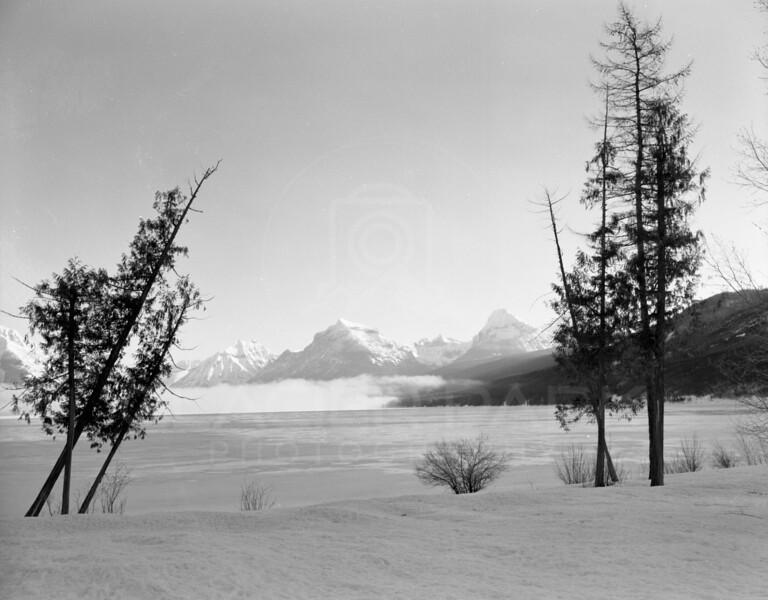 Fog on Lake McDonald Glacier National Park