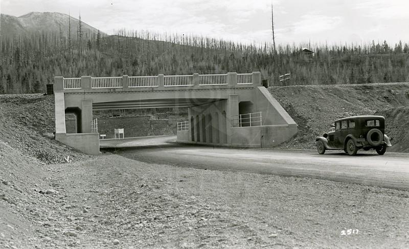 Ferde Greene Photo, 10/25/1936, Under Pass at Belton, Old Dodge Victory Six 1929