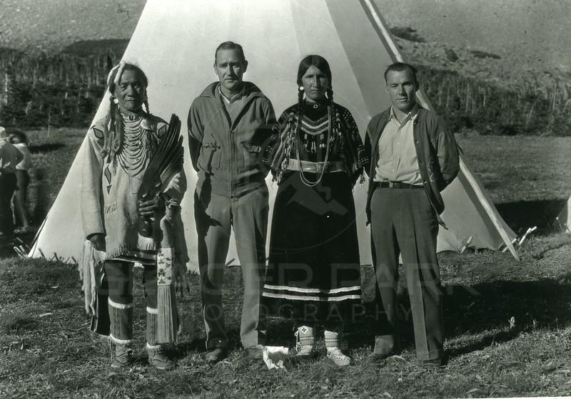 Blackfeet Indians with Bradshew
