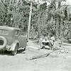 Ferde Greene Photo, 7/25/1936, Two Medicine Campground, Victory Six Dodge