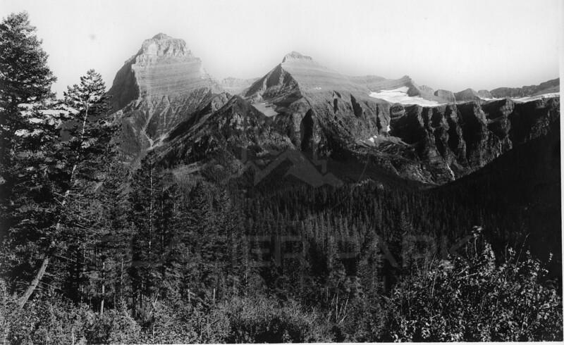 Kinnerly & Kintla Peaks<br /> R E Marble Photo<br /> MA-002