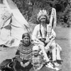 Blackfeet Indians in front of Teepee
