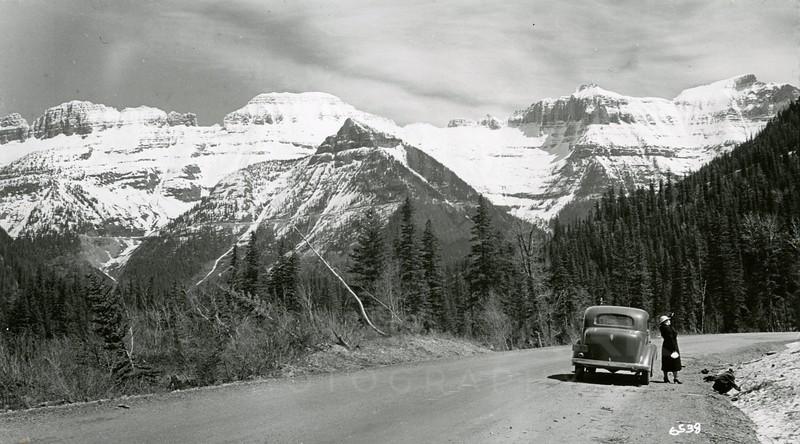 Ferde Greene Photo, 5/15/1938, Elizabeth Greene in Glacier National Park