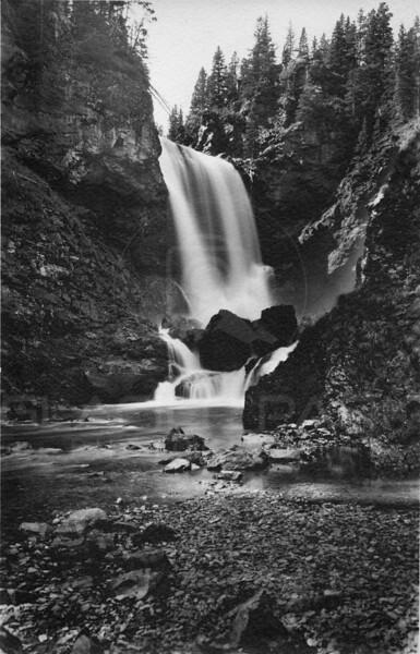 Belly River Dawn Mist Falls, Glacier National Park 1920