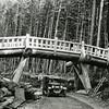 Ferde Greene Photo<br /> 8/1/1926 Horse trail bridge Glacier National Park<br /> f8 1/25<br /> 6430