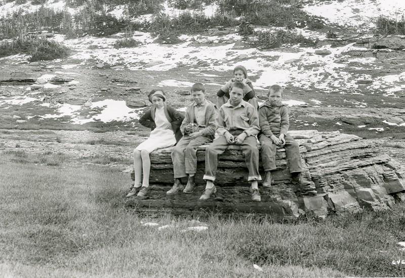 Ferde Greene Photo<br /> 9/8/1929 Ruby, Howard, Malvin, Alan & Mary Jordan<br /> 6468